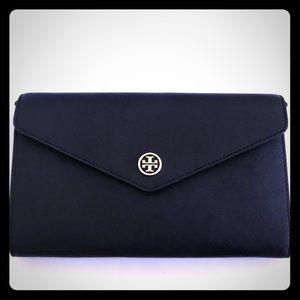 New Black Robinson Tory Burch Clutch Crossbody Bag